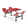 OFM Cluster Table with Laminate top - 24 x 48, Red