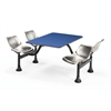 Cluster Table with Laminate Top and Stainless Steel Chairs - 24 x 48, Blue