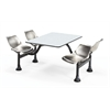 Cluster Table with Laminate Top and Stainless Steel Chairs - 24 x 48, Gray Nebula