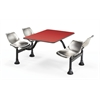 Cluster Table with Laminate Top and Stainless Steel Chairs - 24 x 48, Red