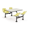 Cluster Table with Laminate top - 24 x 48, Yellow Seats, Beige Nebula Top