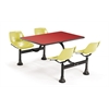 Cluster Table with Laminate top - 24 x 48, Red