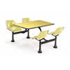 Cluster Table with Laminate top - 24 x 48, Yellow