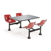 Cluster Table with Stainless Steel Top - 24 x 48, Red
