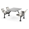 OFM Cluster Table with Stainless Steel Top and Chairs - 30 x 48, Stainless Steel