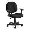 OFM Comfort Series Superchair with Arms, Black