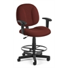 OFM Comfort Series Superchair with Arms and Drafting Kit, Wine