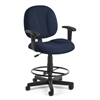 OFM Comfort Series Superchair with Arms and Drafting Kit, Navy