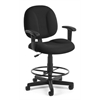 Comfort Series Superchair with Arms and Drafting Kit, Black