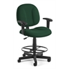 OFM Comfort Series Superchair with Arms and Drafting Kit, Green