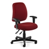 OFM Posture Task Chair with Arms, Wine