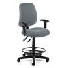 Posture Task Chair with Arms and Drafting Kit, Gray