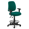 Posture Task Chair with Arms and Drafting Kit, Teal