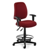 Posture Task Chair with Arms and Drafting Kit, Wine