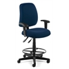Posture Task Chair with Arms and Drafting Kit, Navy