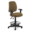 Posture Task Chair with Arms and Drafting Kit, Taupe