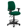 Posture Task Chair with Arms and Drafting Kit, Green