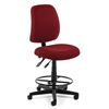 Posture Task Chair with Drafting Kit, Wine