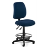 Posture Task Chair with Drafting Kit, Navy