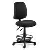 Posture Task Chair with Drafting Kit, Black