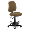Posture Task Chair with Drafting Kit, Taupe