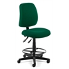 Posture Task Chair with Drafting Kit, Green