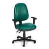 Straton Series Vinyl Task Chair with Arms, Teal