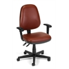 OFM Straton Series Vinyl Task Chair with Arms, Wine