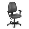 Straton Series Vinyl Task Chair with Arms, Charcoal