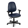 OFM Straton Series Vinyl Task Chair with Arms, Navy