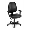 OFM Straton Series Vinyl Task Chair with Arms, Black