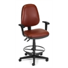 OFM Straton Series Vinyl Task Chair with Arms and Drafting Kit, Wine