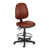 OFM Straton Series Vinyl Task Chair with Drafting Kit, Wine