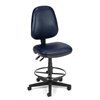 OFM Straton Series Vinyl Task Chair with Drafting Kit, Navy