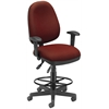 OFM Ergonomic Sliding Seat Computer Task Chair with Drafting Kit - ComfySeat™, Wine