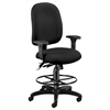 Ergonomic Executive/Computer Task Chair with Drafting Kit - ComfySeat™, Black