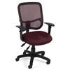 OFM Comfort Series Ergonomic Mesh Task Chair with Arms - ComfySeat™, Wine