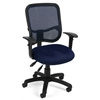 OFM Comfort Series Ergonomic Mesh Task Chair with Arms - ComfySeat™, Navy