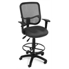 Comfort Series Ergonomic Mesh Task Stool with Arms and Drafting Kit - ComfySeat