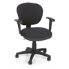 Lite Use Computer Task Chair with Arms, Dark Gray