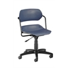 Martisa Series Plastic Task Chair, Navy Seat, Black Frame