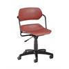 OFM Martisa Series Plastic Task Chair, Wine Seat, Black Frame