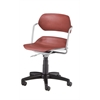 Martisa Series Plastic Task Chair, Wine Seat, Silver Frame