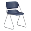 OFM Martisa Series Armless Plastic Stack Chair, Navy