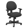 OFM 24 Hour Computer Task Chair with Arms, Charcoal