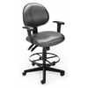 OFM Elements 24 Hour Task Chair with Arms and Drafting Kit, Olympus Beluga
