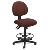 OFM 24 Hour Computer Task Stool with Drafting Kit, Burgundy
