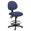 OFM 24 Hour Computer Task Stool with Drafting Kit, Blue