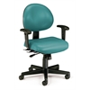 OFM 24 Hour Anti-Microbial Vinyl Computer Task Chair with Arms, Teal