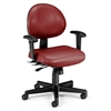 OFM 24 Hour Anti-Microbial Vinyl Computer Task Chair with Arms, Wine